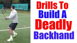 Video Tennis Backhand | 3 Drills To Move Like Djokovic On Your Backhand download MP3, 3GP, MP4, WEBM, AVI, FLV Juni 2018