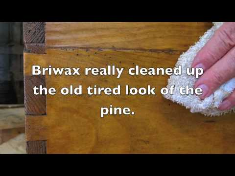 Briwax Restores An Antique Pine Blanket Chest Trg Products