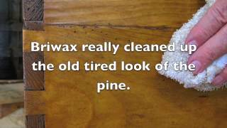 Briwax Restores An Antique Pine Blanket Chest