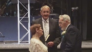 Engaged in their 80s, GR couple now married