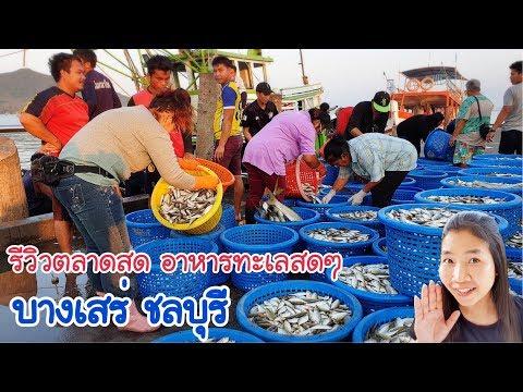 รีวิวตลาดสดบางเสร่ ชลบุรี อาหารทะเลสดๆ EP.292/หาวิวแบบนี้ไม่มีที่เมืองนอก/แขมรอินเตอร์