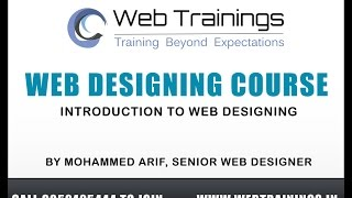 Web Designing Course in Hyderabad - Introduction to Web Designing