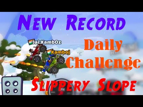 Hill Climb Racing 2 Daily Challenge Slippery Slope Race | World Record