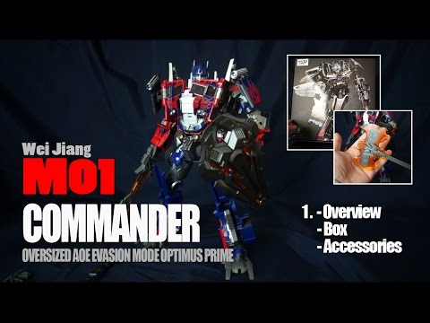 Part 1/5 - Wei Jiang M01 Commander - Oversized Evasion Mode Optimus Prime - BOX/OVERVIEW/ACCESSORIES