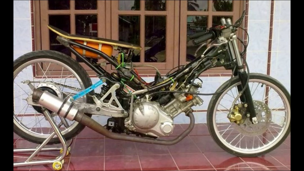 cah gagah | video modifikasi motor yamaha jupiter mx drag keren