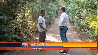 Mala enorme do motorista do parque nacional de iguaçu