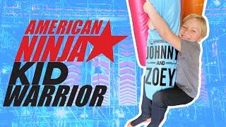 "AMERICAN NINJA WARRIOR Parody ""Johnny Does Little Kid American Ninja Warrior"" Obstacle Course"