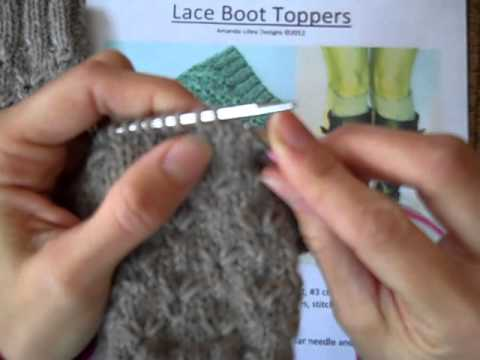Knitting Simple Boot Topper Tutorial K1 Long Stitch Youtube