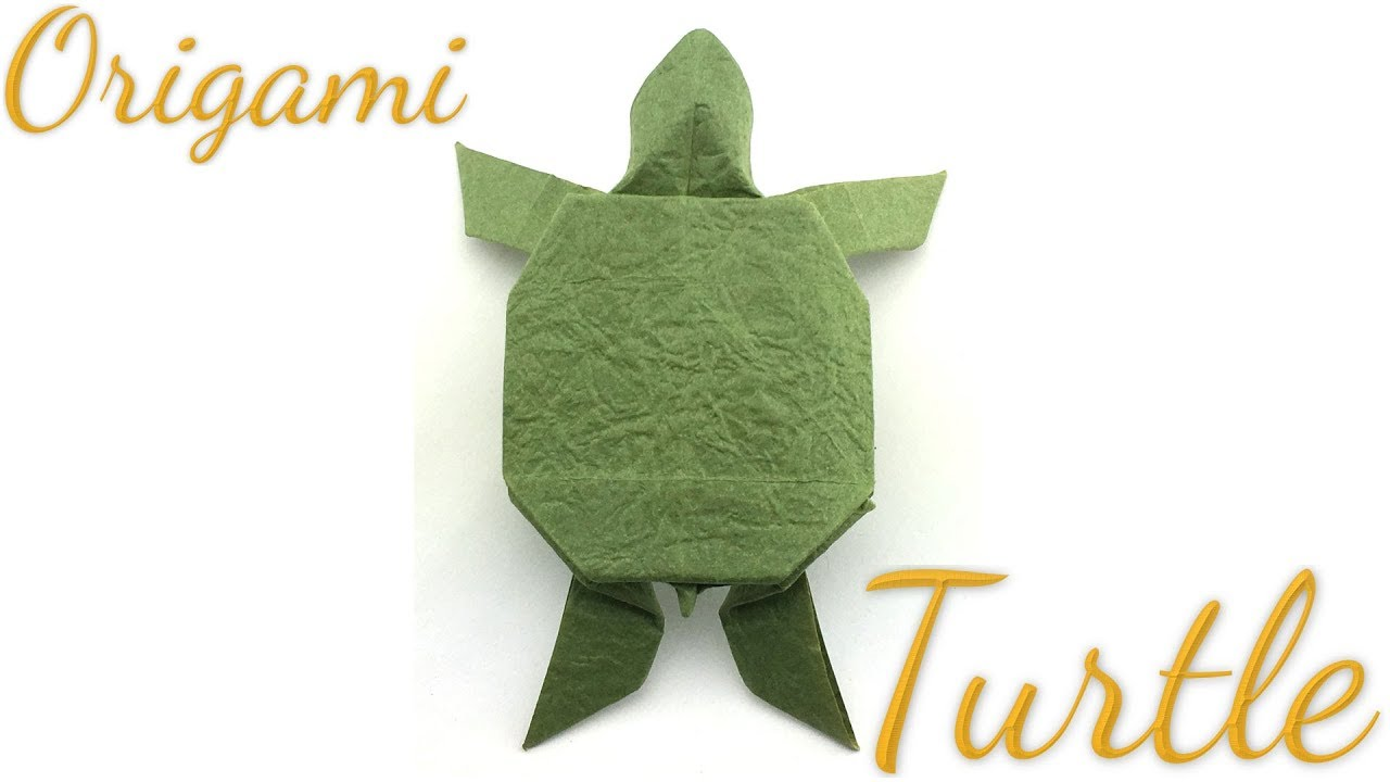 Origami Turtle (FIRST VERSION) - Tutorial - How to make an easy ... | 720x1280