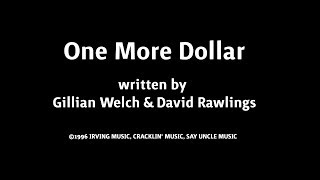 Jason Wilber - One More Dollar (Solo Acoustic)