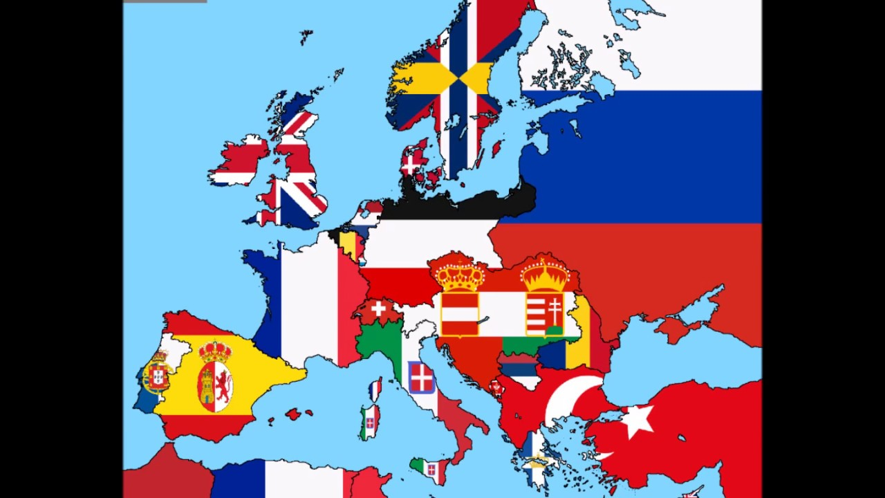 Flags of Europe from 1800 to 2016 on map of asia 1900, blank map europe 1800, map of spain, map of austria-hungary during ww1, map 10000 years in the future, map south america 1800, map with 7 emirates uae, map of absolute monarchs, map russia 1800, map in europe, map west indies 1800,