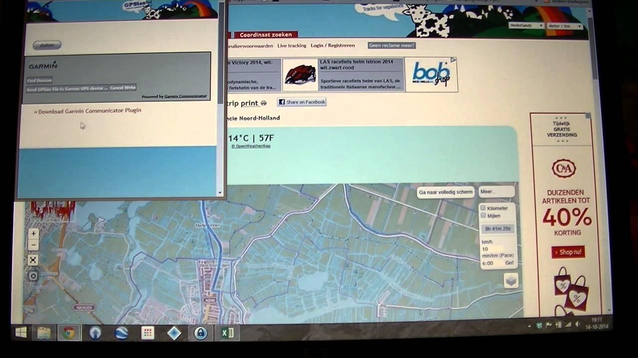Gpsies Karte.Garmin 1000 Edge Route Via Gpsies