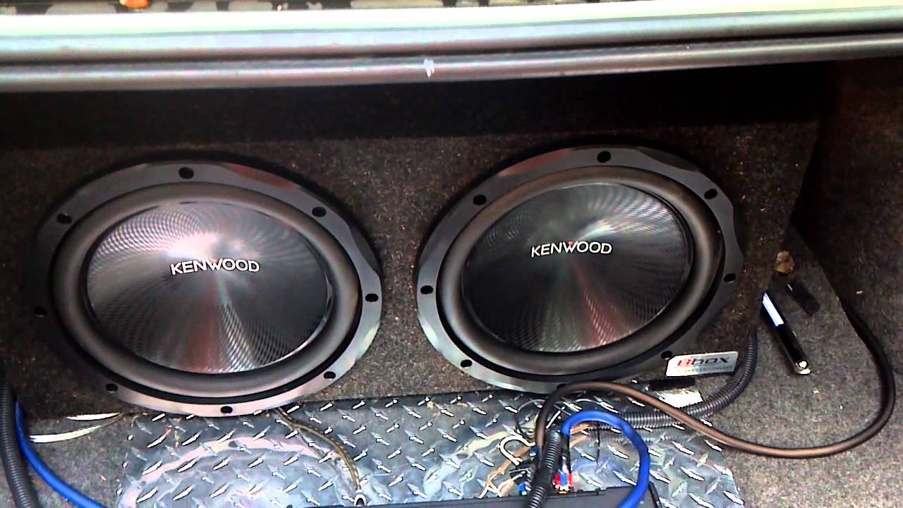 2 12 inch Kenwoods, Kenwood Excelon Deck, and 1800 Watt Kenwood Amp