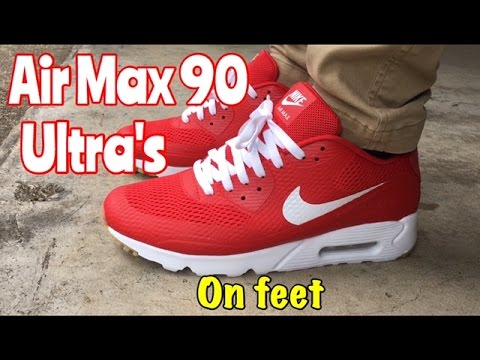 a5568f13b0 Air Max 90 Ultra Breathe from @ChampsSports on feet - YouTube