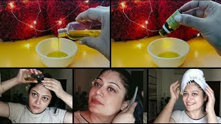 How to : Right way of Hair Oiling / Hot Towel Treatment / Instant Hair Conditioner (Hindi)