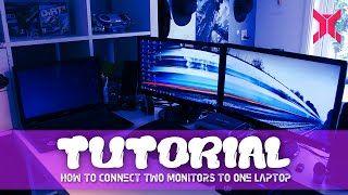 TUTORIAL: How to connect two monitors to one laptop!