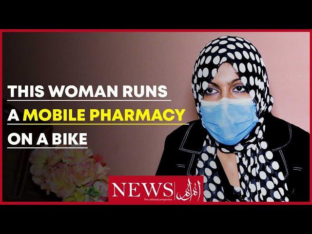 This Woman Runs A Mobile Pharmacy On A Bike.