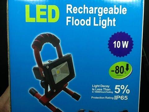 10W rechargeable work light teardown LONG version.