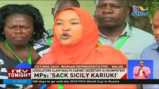 Video MPs call for sacking of CS  Sicily Kariuki over KNH surgery blunder download MP3, 3GP, MP4, WEBM, AVI, FLV Oktober 2018