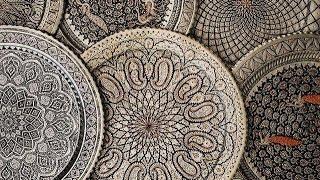 Abstrakta Araber Sitt I Soffan