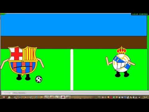 real madrid vs barcelona escudos by alex - YouTube