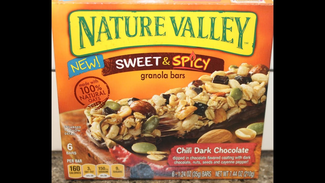 Nature Valley Sweet & Spicy Granola Bar: Chili Dark Chocolate Review ...