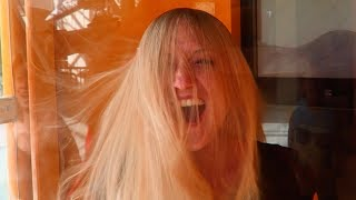 CRAZY HAIR BLOWING IN A HURRICANE!