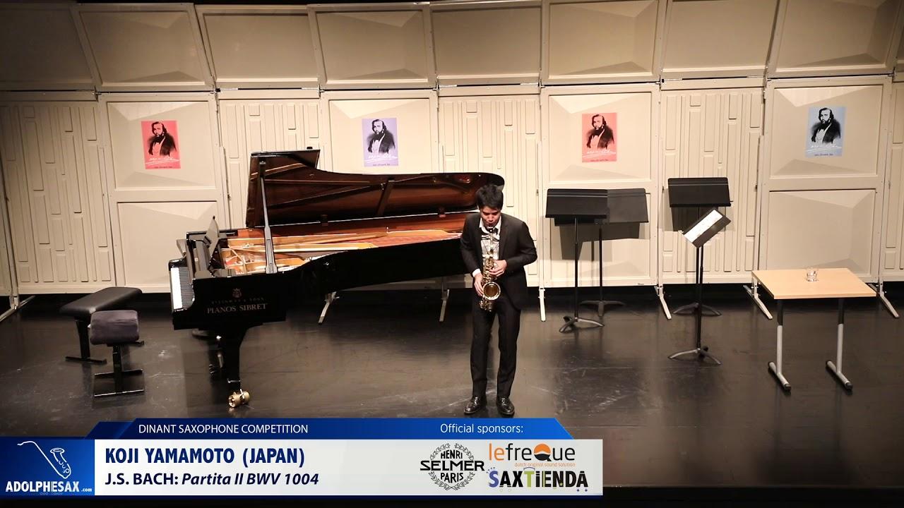 Koji Yamamoto (Japan) -  Partita II BWV 1004 by J.S.Bach (Dinant 2019)