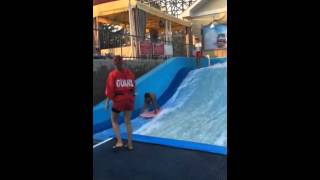 Funny video. Kid learning to surf