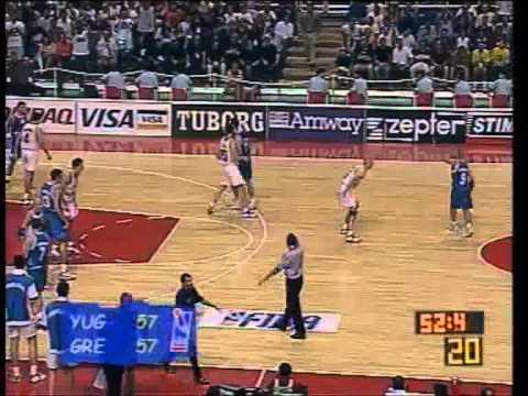 greece yugoslavia  Mundobasket1998 (semifinal)