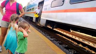 Claudi & the Kids Riding the Marc Train