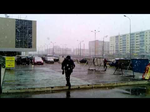 Снег в сентябре. Казань 28.09.2013. Snow in september. Kazan.