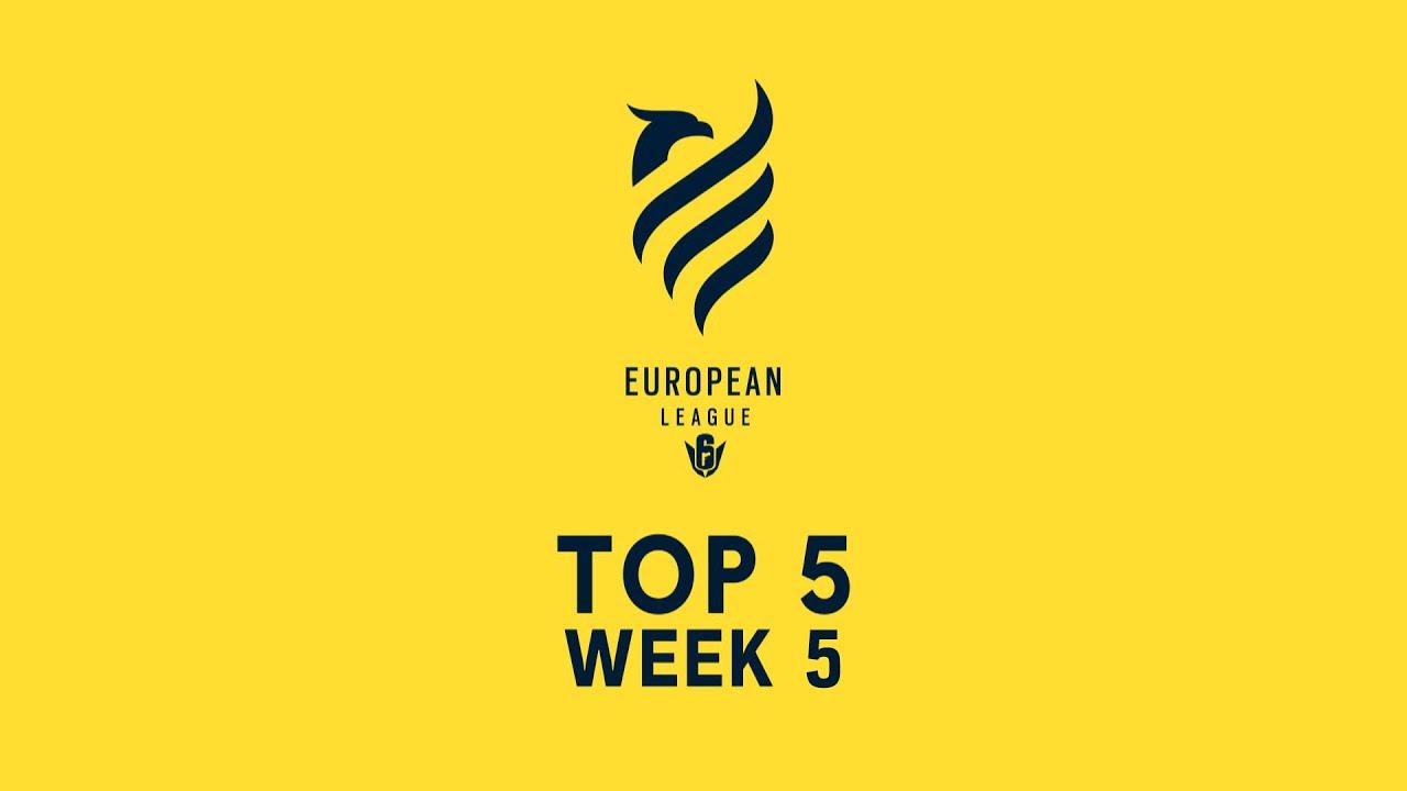 Top 5 plays - Rainbow Six Siege's European League 2020, Stage 2, week 5