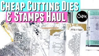 Aliexpress DIES and STAMPS haul for Sizzix Bigshot or other die cutting machine for the Crafter