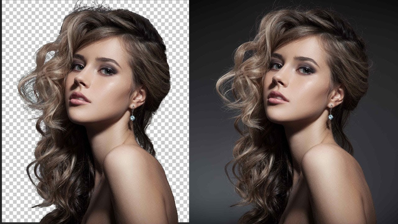 how to cut out hair in photoshop smoothly - YouTube