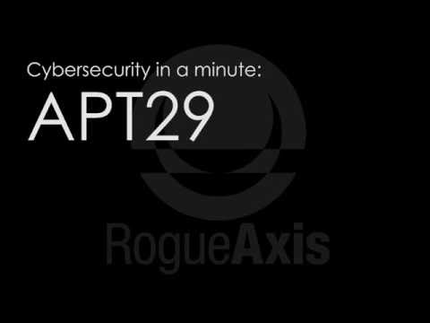 Cybersecurity in a minute: APT29
