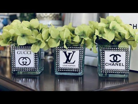 Chanel Flower Vase Diy Chanel Vase Fashion Designer Inspired Vases At Home By Me Self Gucci Vase Youtube