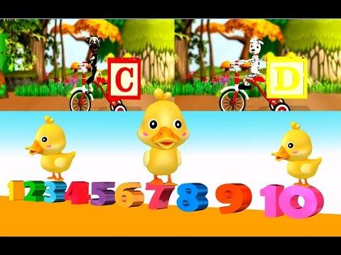 Five Little Ducks เพลงเด็ก  รวมเพลงภาษาอังกฤษสำหรับเด็ก  A B C  นับเลข 1 - 10 เพลงเด็กอนุบาล