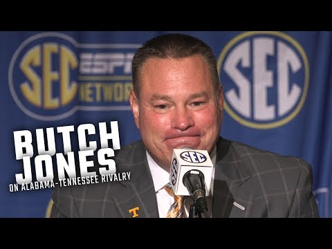 Butch Jones talks about Alabama's 10-year winning streak over Tennessee