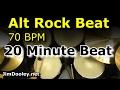 20 Minute Backing Track - Alternative Rock Beat 70 BPM