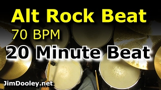 20 Minute Backing Track - Alternative Rock Beat 70 BPM