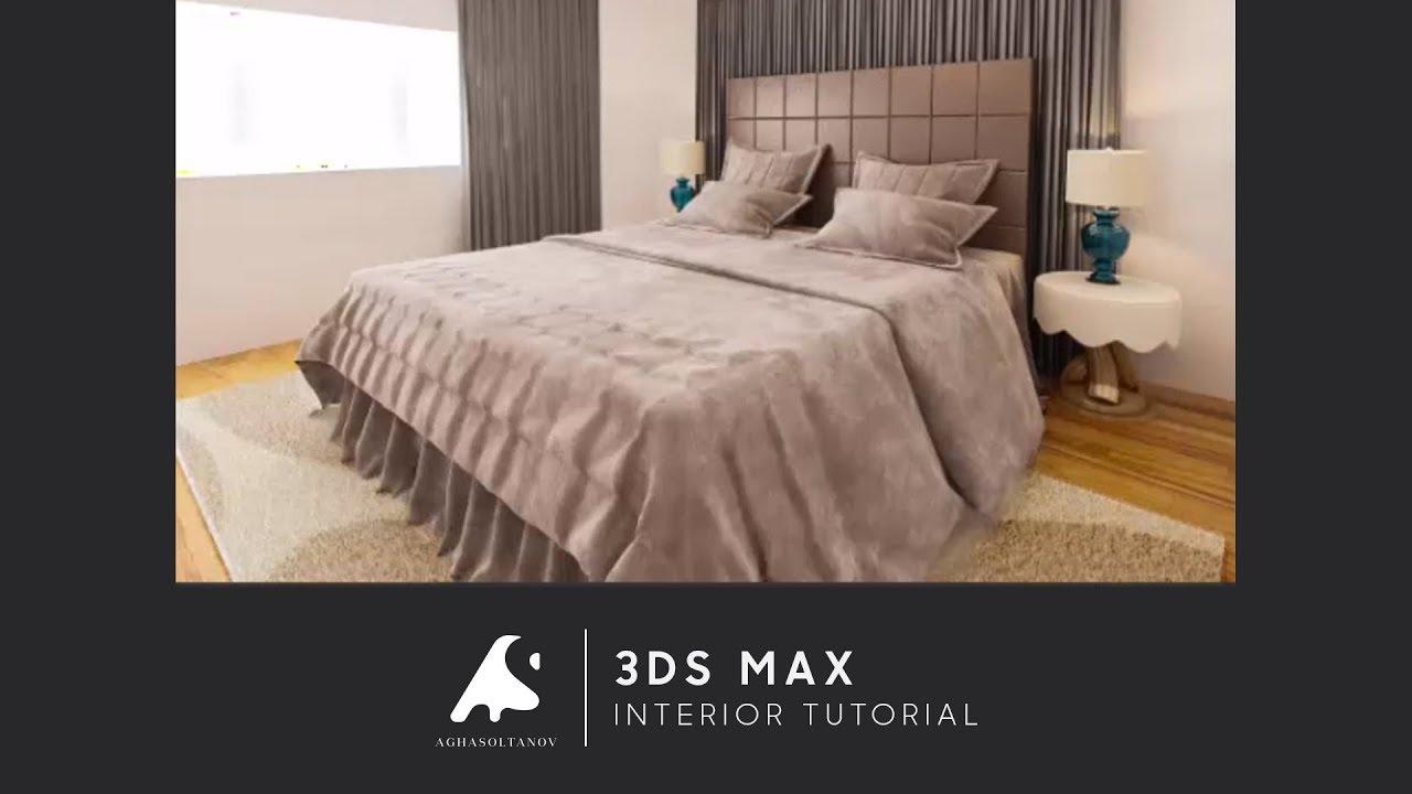 3D Max Interior Design Tutorial 2016 Vray+Photoshop Modeling