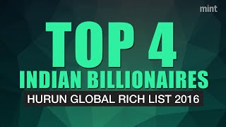 Top Indian billionaires in Hurun Global Rich List 2016