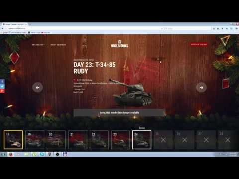 World of Tanks: Advent Calendar - 2016 Secret Code