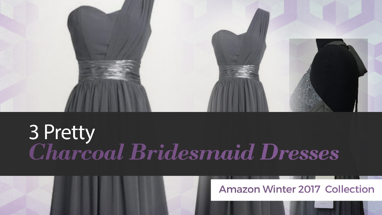 3 pretty charcoal bridesmaid dresses amazon winter 2017 collection 3 pretty charcoal bridesmaid dresses amazon winter 2017 collection ombrellifo Images