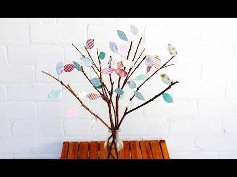 Easy craft: How to make a scrap paper tree