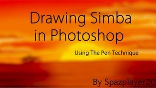 Pen Technique - Drawing Simba in Photoshop