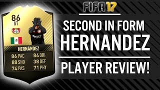 FIFA 17 SECOND IN FORM JAVIER 'CHICHARITO' HERNANDEZ (86) PLAYER REVIEW! | FIFA 17 ULTIMATE TEAM(, 2017-02-22T20:35:55.000Z)