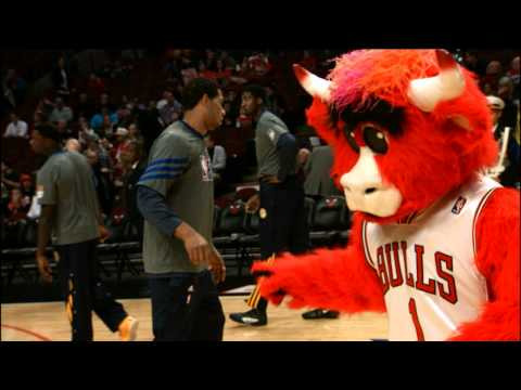 Benny the Bull Pranking the Pacers