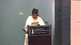 Friday Sermon at West Coast Jalsa Salana USA 2011 by Imam Shamshad Nasir